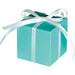 Robins Egg Blue Cube Favour Boxes - 5cm