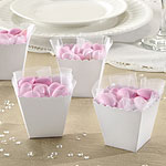 White Scallop Favour Boxes - 6cm