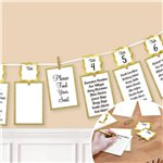 Gold Seating Chart Garland