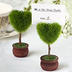 Heart Topiary Wedding Place Card Holder