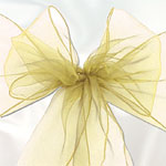 Ivory Organza Chair Sashes