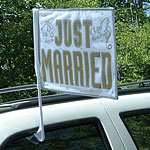 Just Married Car Flag