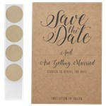 Kraft Save The Date Scratch & Reveal Cards