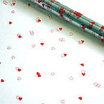 Red Heart Cellophane Gift Wrap