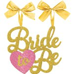 Bride To Be Glitter Chair Sign Decoration - 32cm