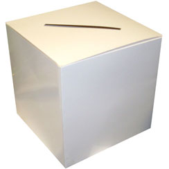 White Wedding Card Box