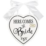 """Here Comes The Bride"" Double Sided MDF Sign"