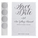 White Save The Date Scratch & Reveal Cards