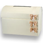 Ivory Silk Chest Post Box