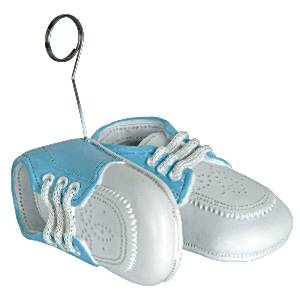 Light Blue Baby Shoes Balloon Weight - 170g