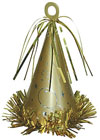 Large Party Hat Weight - Gold