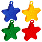 Primary Coloured Star Balloon Weights