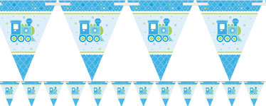 Welcome Baby Boy Paper Bunting - 4.5m