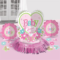 Welcome Girl Baby Shower Table Decorating Kit