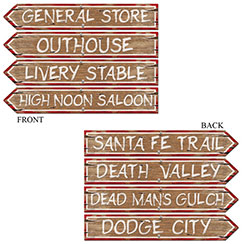 Western Sign Cutouts - 60cm