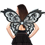Large Black Lace Wings Fancy Dress