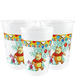 Winnie the Pooh Cups - 200ml Plastic Party Cups