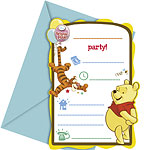 Winnie the Pooh Invitations and Envelopes