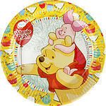 Winnie the Pooh Plates - 23cm Paper Party Plates
