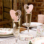 With Love Place Card - Pink