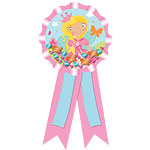Woodland Princess Confetti Filled Award Ribbon