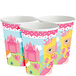 Woodland Princess Party Cups - 266ml Paper Party Cups