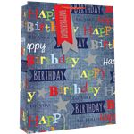 Extra Large Male Denim Birthday Bag - 45cm