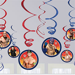 WWE Wrestling Hanging Swirl Decorations