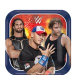 WWE Wrestling Square Plates - 17cm Paper Party Plates