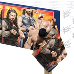 WWE Wrestling Plastic Tablecover - 1.4m x 2.8m