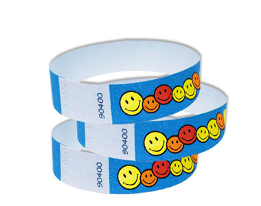 Happy Faces Paper Wristbands