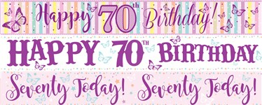 70th Birthday Banners | Party Delights