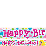 Barbie Birthday Paper Banners 1 design 1m each
