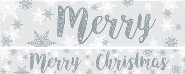 Snowflake Paper Yard Banners 1 design 1m each