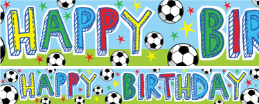 Football Birthday Paper Banners 1 design 1m each