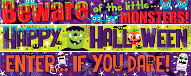 Halloween Family Fun Paper Banners 3 designs - 1m