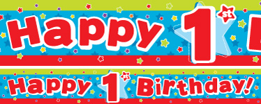 1st Birthday Banners | Party Delights