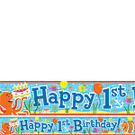 Under The Sea 1st Birthday Paper Banners 1 design 1m each
