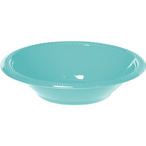 Robin's-Egg Blue Party Bowls - 340ml Plastic
