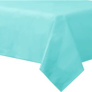 Robin's-Egg Blue Plastic Tablecover - 1.4m x 2.8m