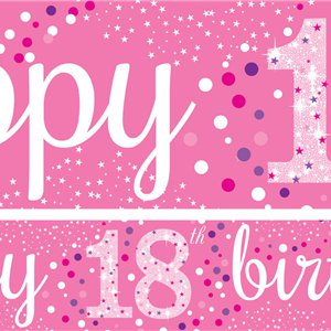 18th Birthday Paper Banners 1 design 1m each